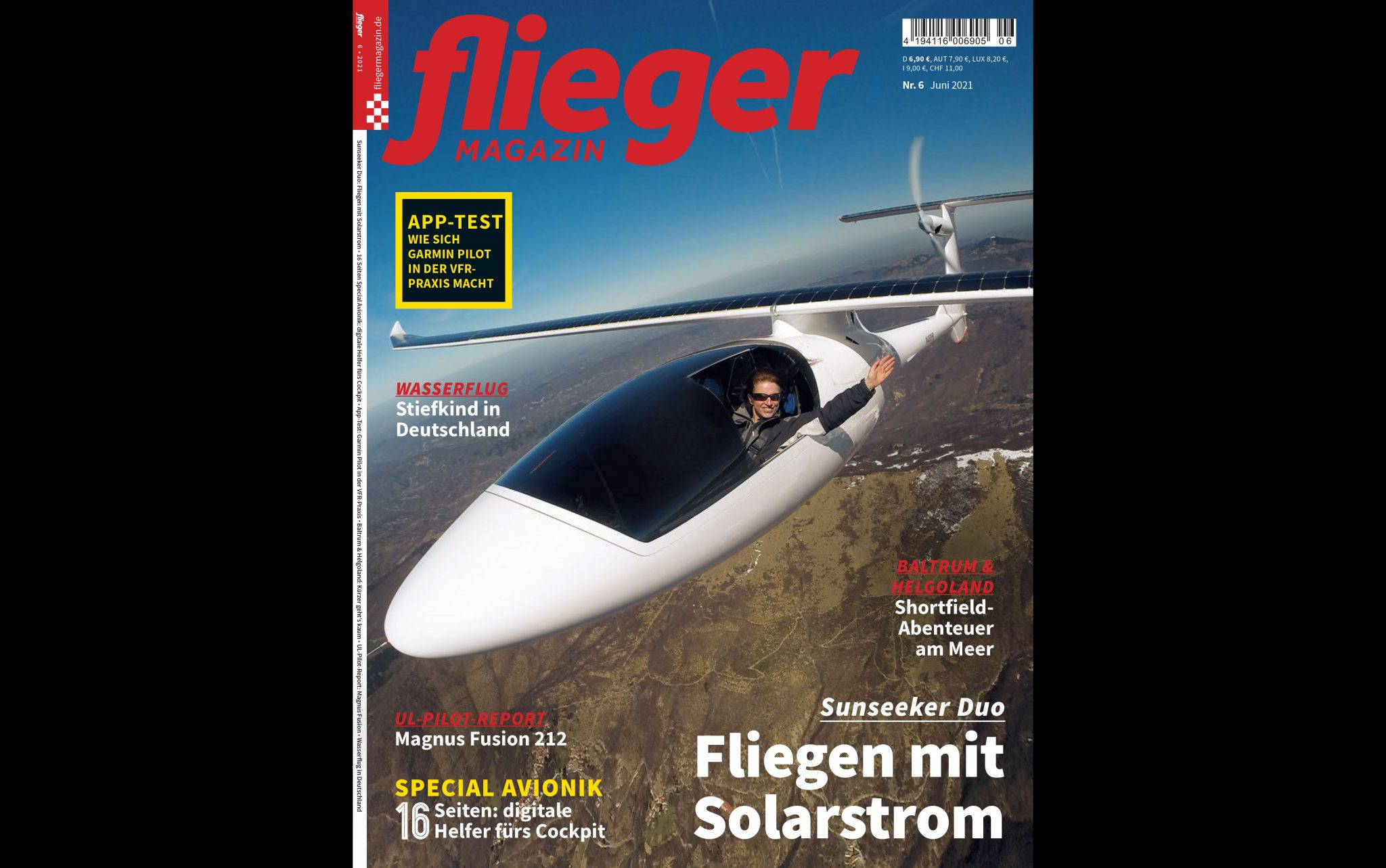 Read more about the article Cover story in Flieger Magazin